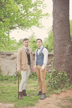 a little much, but great groom / groomsmen style inspiration
