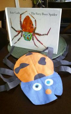 Paper bag puppet with construction paper