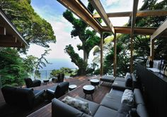 """Terrace at name of """"Kai-Atami"""" at Japan"""