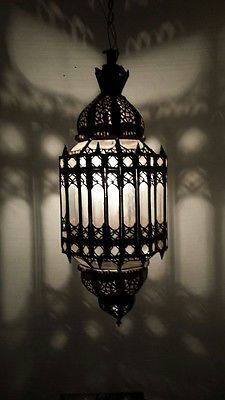 Moroccan Clear glass chandelier, moorish lantern, spanish lighting, art deco