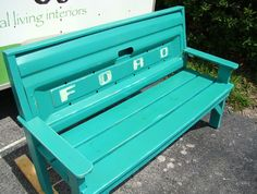 Custom bench made with Ford Truck Tailgate painted by UrbanTwiggs, $550.00