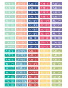 Planner labels, free printables