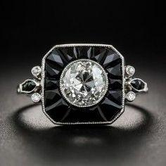 Ideen Art Deco Verlobungsring Onyx Vintage, … – Famous Last Words Wedding Rings Vintage, Vintage Engagement Rings, Engagement Ideas, Onyx Ring, Ring Verlobung, Baguette, Onyx Engagement Ring, Estilo Art Deco, Art Deco Stil