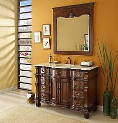 "50"" Diana (DA-803) : Bathroom Vanity #Diana #HomeRemodel #BathroomRemodel #BlondyBathHome #BathroomVanity"