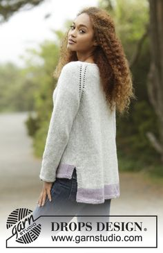 Knitted DROPS jumper with raglan, worked top down in Air. Size: S - XXXL. Free pattern by DROPS Design.