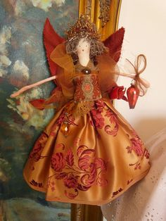 'Copper' handmade fairy