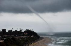 April 13, 2012 A powerful storm swept through Orange County Friday, with lightning and thunder in places, at least one waterspout off the coast and rain totals pushing past an inch in Fullerton. Lifeguards also reported a waterspout off the San Clemente coast about 2:40 p.m. It was a waterspout. It lasted about three to four minutes; once it hit land, it pretty much dissipated and went back up into the clouds.