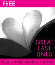 FREE bulletin board materials • just print and go #English #ELA #bulletinboard #free #freebie