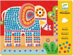 Djeco ~ Mosaics ~ Elephant & Snail Goat Toys, Fun Crafts, Arts And Crafts, Mosaic Kits, Mosaic Pictures, Mosaic Crafts, Educational Toys For Kids, Baby Kind, Craft Kits