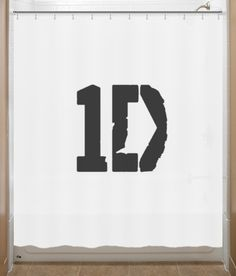1D shower curtain. We need on with their faces on it....hehehehehe