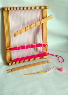 This is a great size for beginners! Weaving loom, made from natural wood. Size is 12x15 inches This loom is built with care, its solid and very