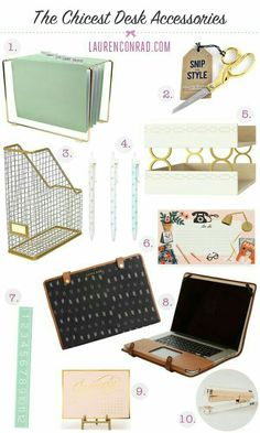 The chicest desk decor that won't break your bank! The chicest desk decor that won't break your bank! Home Office Space, Home Office Decor, Home Decor, Office Desk, Office Spaces, Decor Room, Office Cube, Bedroom Decor, Small Office
