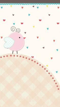 doodledpop: Little Bird Wall Bow Wallpaper, Hello Kitty Wallpaper, Cellphone Wallpaper, Wallpaper Backgrounds, Iphone Wallpaper, Paper Scrapbook, Binder Covers, Watercolor Texture, Cartoon Pics