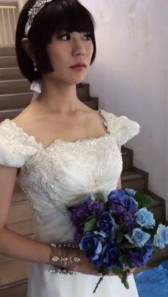 #ミス東大 候補の小林里瑳さんのウェディング・ドレス姿のフューズです!  #ミスコレ