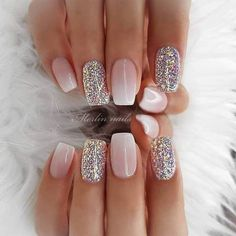50 Pretty Nail Art Design Easy 2019 You Can Try As A Beginner 50 Pretty Nail Design Easy 2019 – Fashion & Glamour Trends 2019 – Katty Glamour Pretty Nail Designs, Pretty Nail Art, Simple Nail Designs, Acrylic Nail Designs, Nail Art Designs, Sparkle Nails, Glitter Nails, Glitter French Nails, Glitter Art