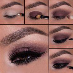 6Строгий вечерний макияж со стрелками и матовыми тенями