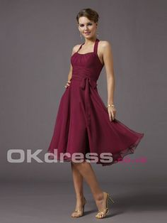 A-Line Square Draped Zipper 2014 Bridesmaid Dresses - by OKDress UK