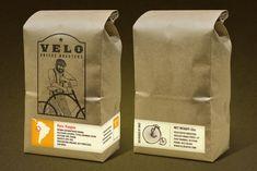 Velo Coffee Roasters — The Dieline - Branding & Packaging Design Coffee Packaging, Food Packaging, Brand Packaging, Coffee Logo, Coffee Type, Peru, Web Design, Coffee Business, Creativity And Innovation