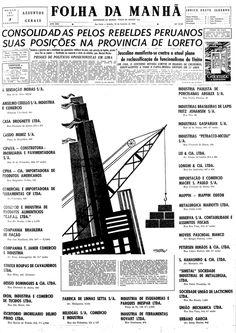 Folha da Manhã - Edição de 18/02/1956