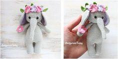 Cuddly Crocheted Elephant [FREE Crochet Pattern]