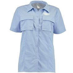 82b59f5ca56 Florida Gators chicka-d Women's Fish Camp Button Up Shirt - Light Blue