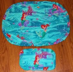 ARIEL the LITTLE MERMAID Placemats for Girls and Dolls - Made in America