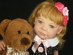 Chloe Custom Reborn Doll Ann Timmerman Little Darlins Nursery Rita Meese artist #LittleDarlinsNursery