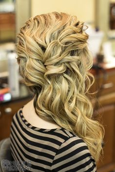 Side swept curls.- I really wish I was talented enough to make my hair look like this!