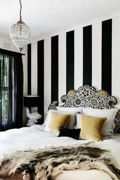 My favorite pattern: black and white stripes | The Decorista | Bloglovin'