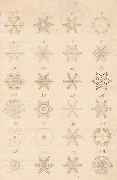 snowflakes about 1740