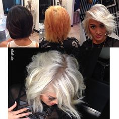 #tbt a client inspired this post, it made me remember @dianadudirty makeover I did. Dark to platinum is one day- took 8-10 hours process but worth it. Color @rlowery #ritahair
