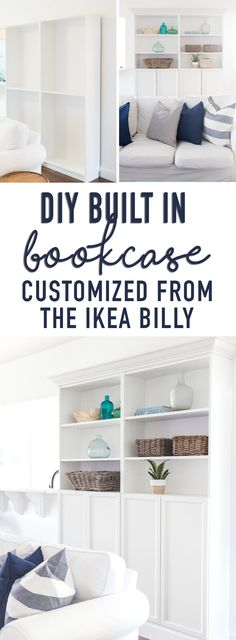 best ideas for wood shelves diy bookcases ikea billy Diy Hanging Shelves, Diy Wall Shelves, Wood Shelves, Corner Shelves, Storage Shelves, Floating Shelves, Shelving, Ikea Billy Bookcase, Built In Bookcase