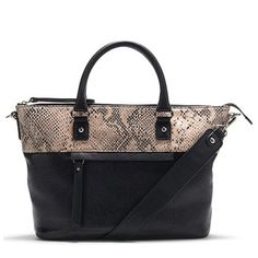 The Stowe bag by Naturalizer with silver hardware and a touch of faux snakeskin.