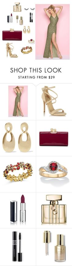 """Evening Glam"" by newyorkdressonline on Polyvore featuring Mac Duggal, Miss Selfridge, Kenneth Jay Lane, Ted Baker, Anne Klein, Palm Beach Jewelry, Givenchy, Gucci, Christian Dior and Stila"