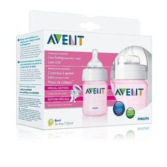 Philips Avent Feeding Bottle 3PK 4OZ  Pink * Continue to the product at the image link.Note:It is affiliate link to Amazon. #NewMommyTips