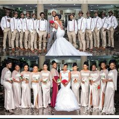 30 Nigerian Weddings We'd Happily Be A Bridesmaid For. Wedding Poses, Wedding Suits, Wedding Attire, Wedding Dresses, Wedding Ideas, Wedding Hijab, African American Weddings, African Weddings, Bridesmaid Dress Colors