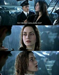 Titanic – I love that man's one line. Just the way he so kindly says it to s… Titanic – I love this man's line. Iconic Movies, Good Movies, Classic Movies, Titanic Movie Quotes, Titanic Movie Scenes, Jack Dawson, Shane Dawson, Young Leonardo Dicaprio, Movies And Series
