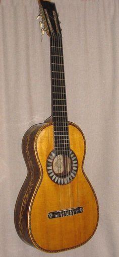 Guitarra valenciana de Luis Reig, año 1845