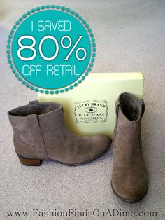 January Find #2: Lucky Brand Terra Western Booties in Brindle Suede