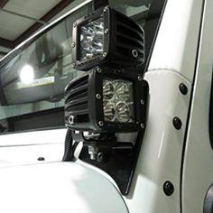 Genesis Offroad Double JK Jeep Dual Light Brackets