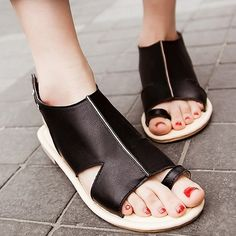 8b8f1acdc8c547 Open Toe Flip Flop Cut Out Surface Women Flat Sandals Comfortable Shoes on  buytrends.com. Buy Trends