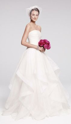 Rosa Clara 'Cava' wedding dress, strapless with full ballgown skirt