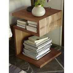 That's handy! Entu Side Table in Coffee Tables & Side Tables | Crate and Barrel #oakridgestyleheist @Oakridge Centre