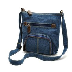 Denim Messenger Cross-body Sling Bag #denim #convenient #simple