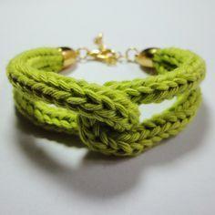Bracelet au tricotin - Monochrome