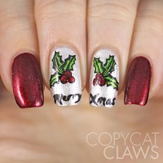 Sunday Stamping - Merry Christmas 2014 Nails