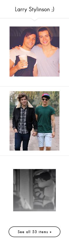 """""""Larry Stylinson ;)"""" by chenonsisonoio ❤ liked on Polyvore featuring one direction, larry, 1d, harry styles, larry stylinson, boys, couples, backgrounds, - larry and louis tomlinson"""