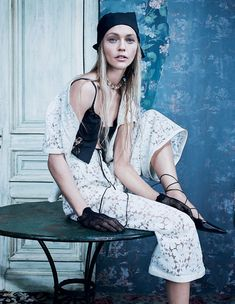 Sasha Pivovarova by Emma Summerton for W Korea December 2015 | The Fashionography