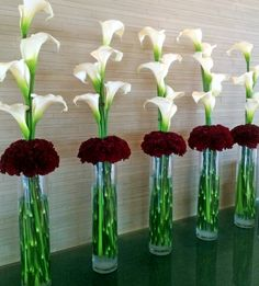 Calla Lily & Carnation arrangement in the hotel lobby #Spokane