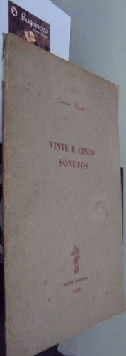 Vinte e Cinco Sonetos de Cassiano Ricardo - Autografado - R$1.500